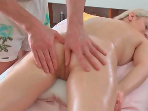 Petra receiving filthy erotic massage while also being deeply toyed
