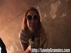 Whorish granny gets a pecker surprise clip