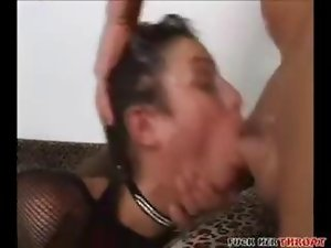 Mad vixen throat grinded with roughness