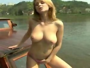 Two Models having Fun on Boat Trip
