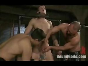 Filthy fuck and metal bondage for filthy young men
