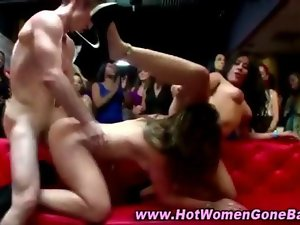 Cfnm nymphos stripper fuck party movie