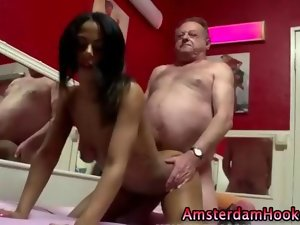 Perfect dutch harlot handjob