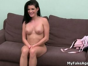 Sexual dark haired young woman gets sensual clip 51