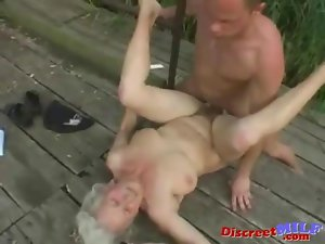 Experienced granny get banged by 19yo man
