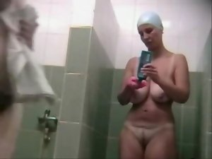 Hidden Cam Mega big melons Solid In Shower