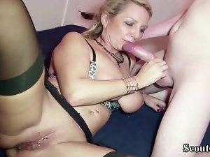 German Mom entice to Fuck by 26cm Fat shaft Step Son-in-law