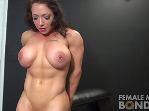 Muscle Woman Girl-on-girl Porno Starlets Dani and Brandimae