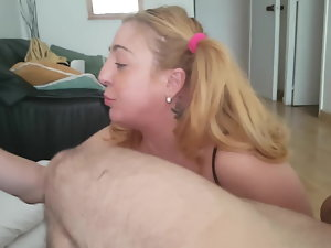 Extreme gagging throatfucking blond solid and gag reflex