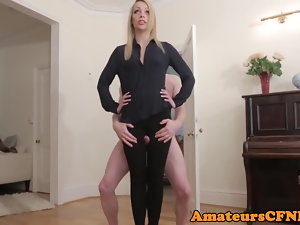 CFNM fetish girlfriend humped by her sub bf
